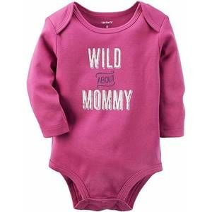 Carter's Baby 3 Mth Bodysuit Wild about Mommy
